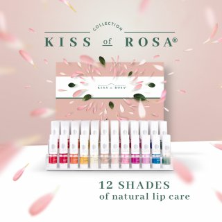 Kiss of Rosa lip care stand